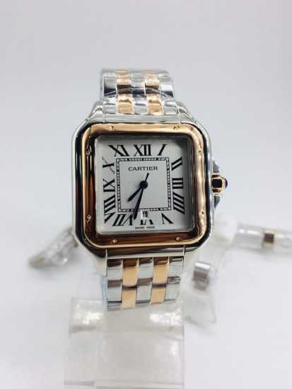 Cartier Chain Watch Gold Silver