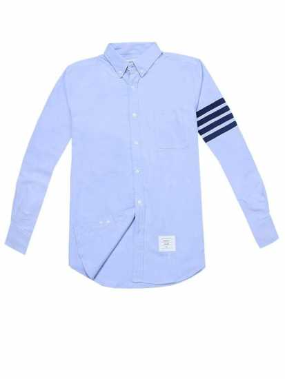 Thom Browne Arm Stripe Long Sleeve  Shirt Sky Blue