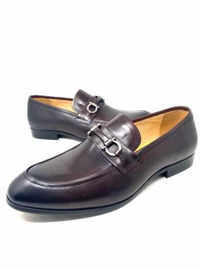 Salvatore Ferragamo Leather Loafers Shoe Brown