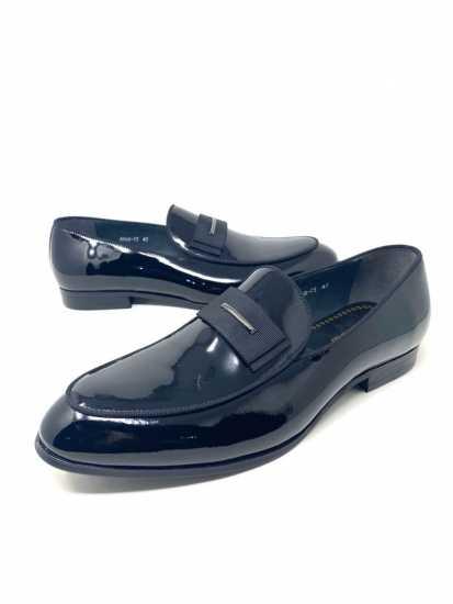 John Galliano Wet-Look Loafers Black