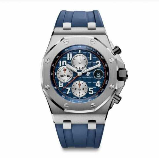 Audemars Piguet Rubber Wristwatch Blue