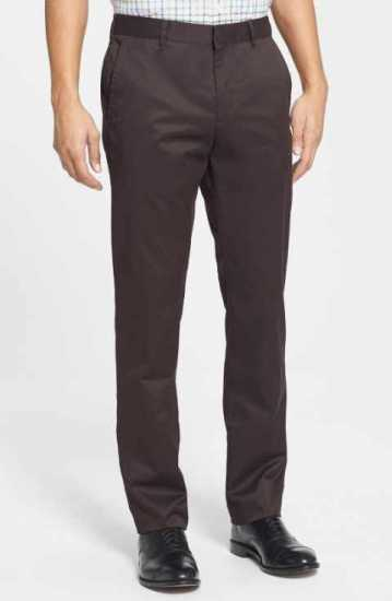 Lacoste Straight Cut Chinos Trouser Coffee brown